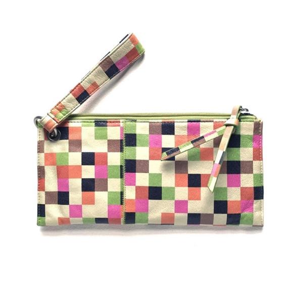 7a696afa2d HOBO Handbags - Hobo VIDA leather wristlet in GEO PIXEL